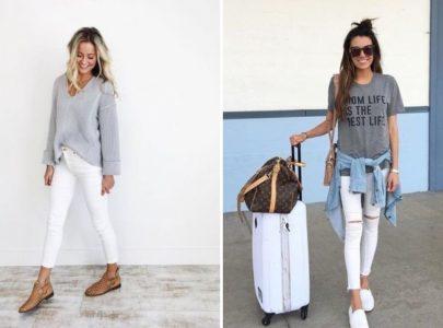 3 сочетания с белыми джинсами, которые облегчат сборы